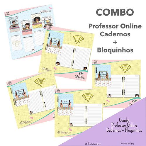 Combo Bloquinho + Cadernos Professor Online por Vê Ribeiro Arquivo Digital