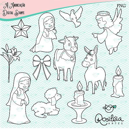 Digital Stamp_A Anunciação_colorir