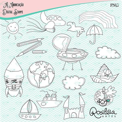 Digital Stamp Aquarela do Brasil _colorir