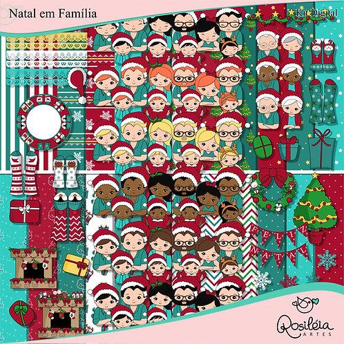Kit Digital Natal em Família