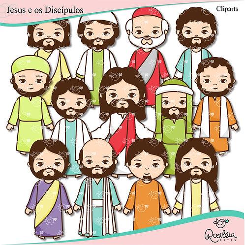 Cliparts Jesus e os Discípulos