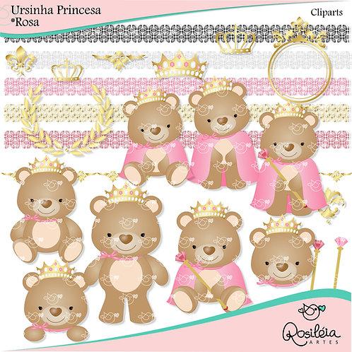 Cliparts Ursinha Princesa_Rosa