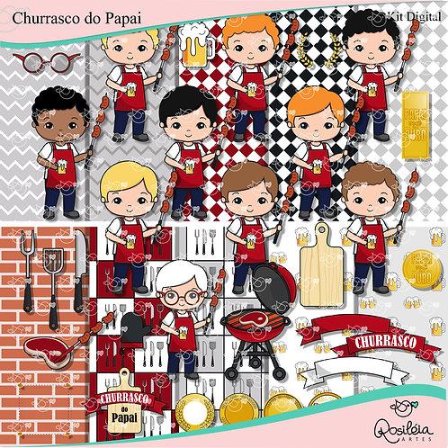 Kit Digital Churrasco do Papai