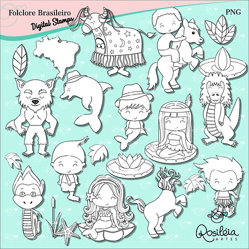 Digital Stamp Folclore Brasileiro