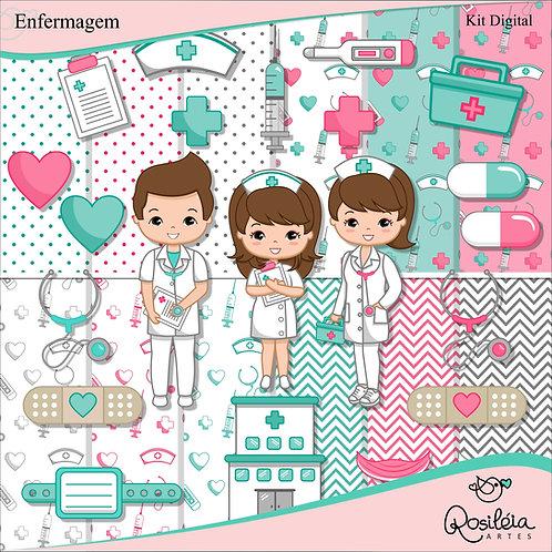 Kit Digital Profissões Enfermagem