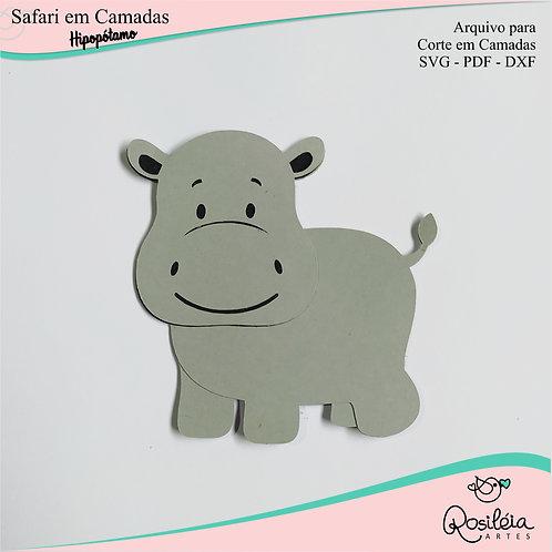 Arquivo Safari Camadas Hipopótamo