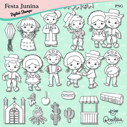 Digital Stamp Festa Junina