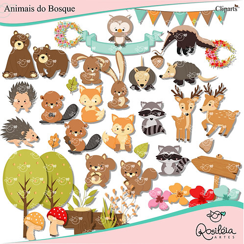 Kit Digital Animais do Bosque