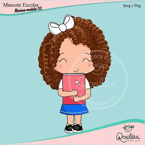 Mascote Escolar Menina Modelo 03