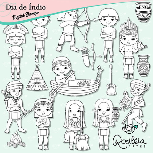 Digital Stamp Dia de Índio