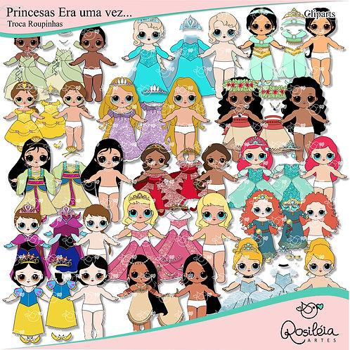 Cliparts  Princesas Era uma vez... Troca Roupinhas