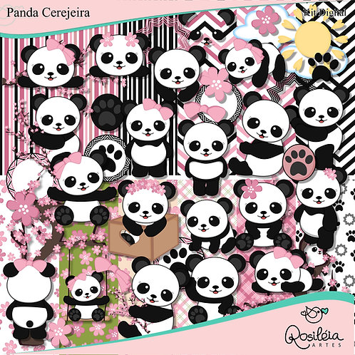 Kit Digital Panda Cerejeira
