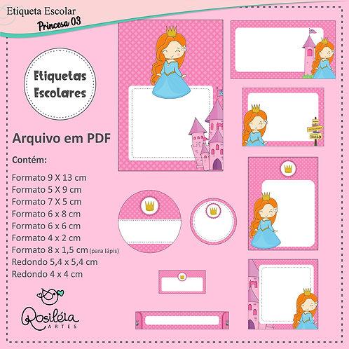 Etiquetas Escolares Princesa 03 - PDF