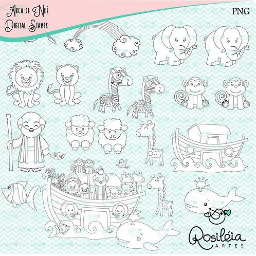 Digital Stamp Arca de Noé
