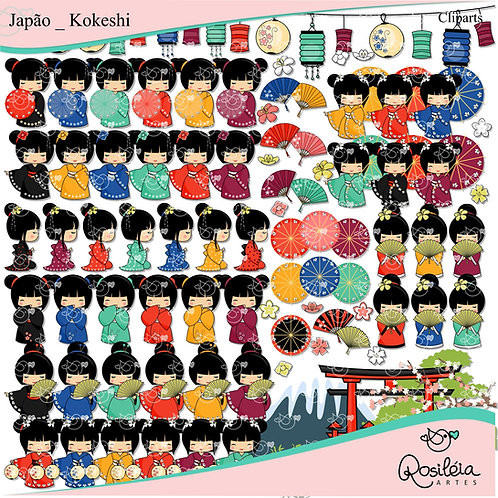 Kit Digital Japão - Kokeshi