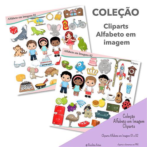 Coleção Cliparts Alfabeto em Imagem