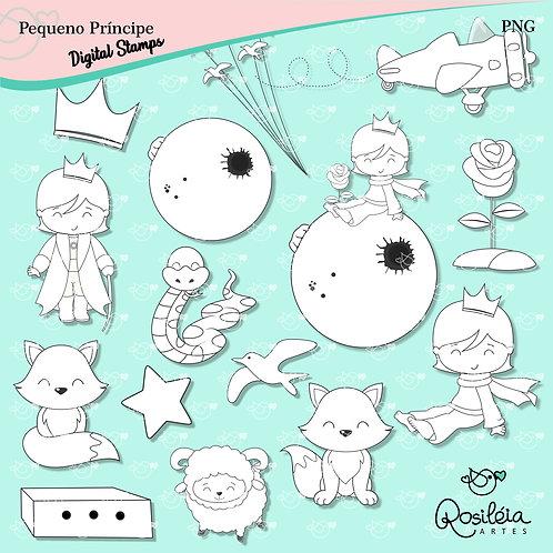 Digital Stamp Pequeno Príncipe