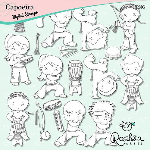 Digital Stamp Capoeira