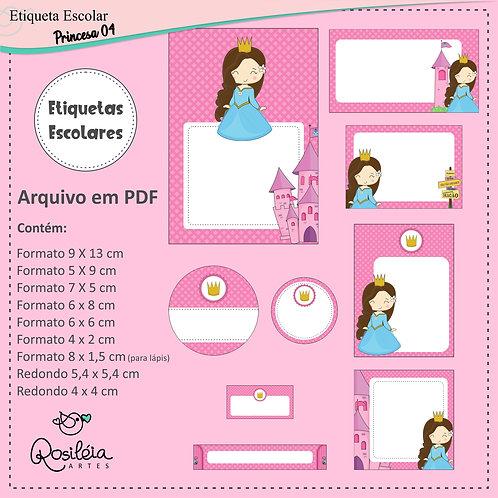 Etiquetas Escolares Princesa 04 - PDF