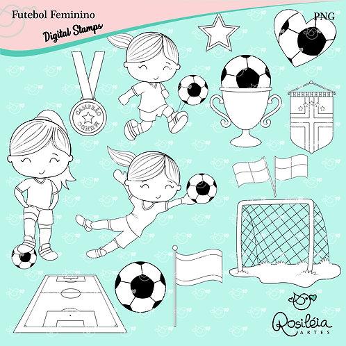 Digital Stamp Futebol Feminino