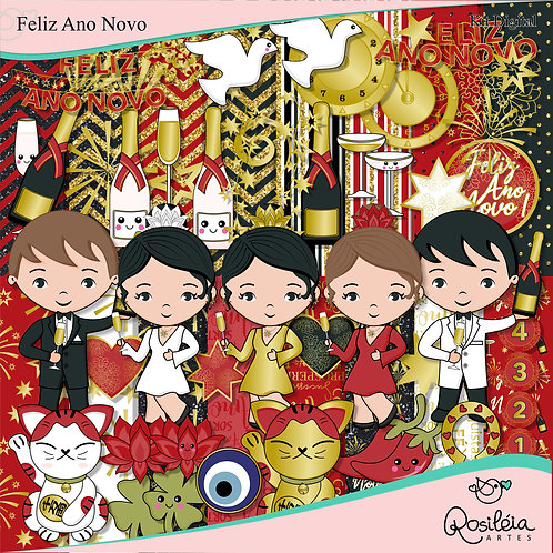 Kit Digital Feliz Ano Novo
