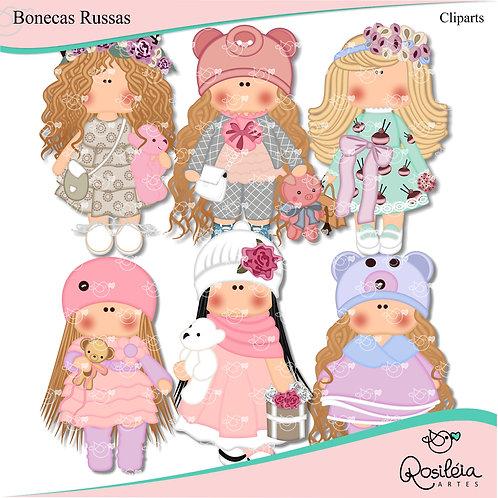 Cliparts Bonecas Russas