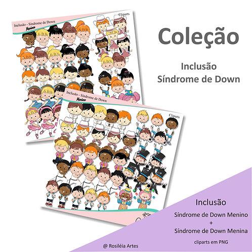 Coleção Inclusão Síndrome de Down Menino e Menina