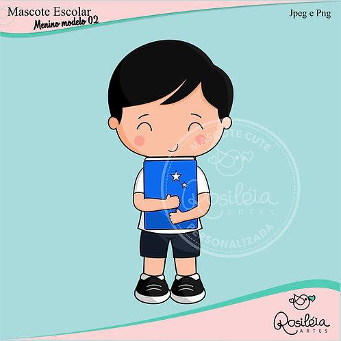 Mascote Escolar Menino Modelo 02