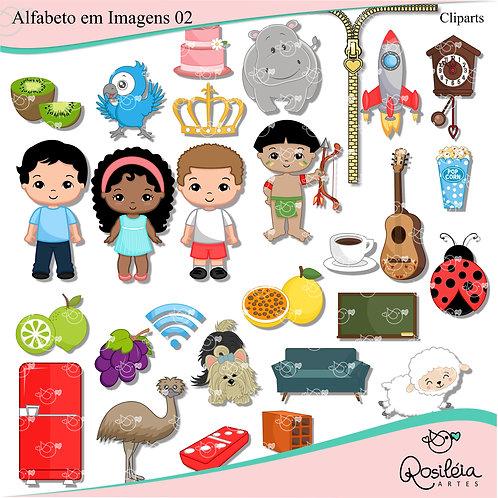 Kit de Cliparts Alfabeto em Imagens 02