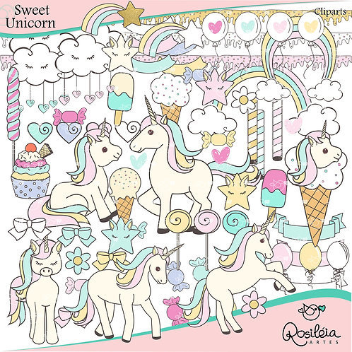 Cliparts Sweet Unicorn_Unicórnios