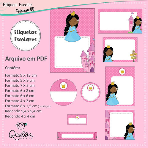 Etiquetas Escolares Princesa 05 - PDF
