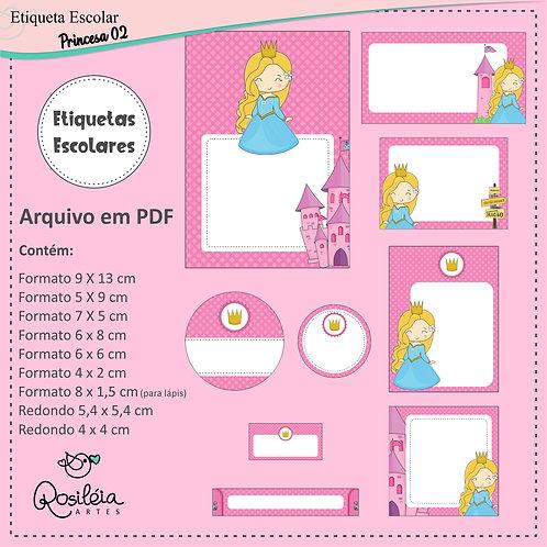 Etiquetas Escolares Princesas 02 - PDF