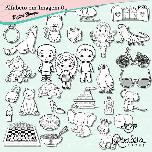 Digital Stamps Alfabeto em Imagem 01