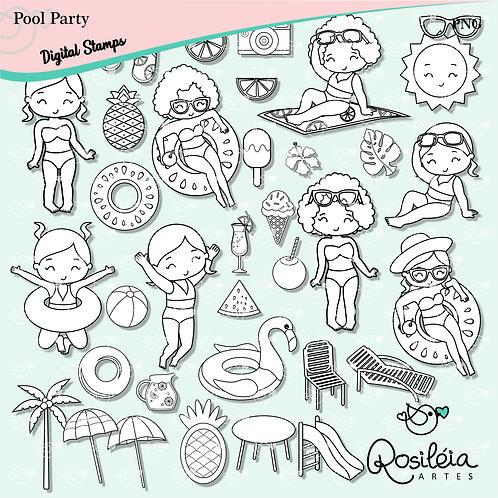 Digital Stamp Pool Party