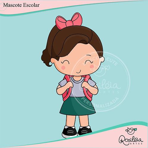 Mascote Cute Escolar Personalizada