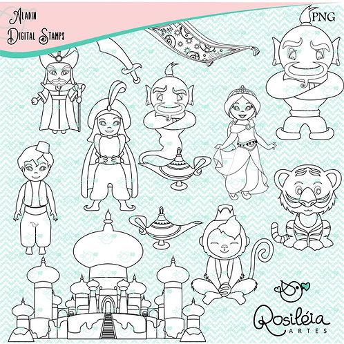 Digital Stamp Aladin_colorir