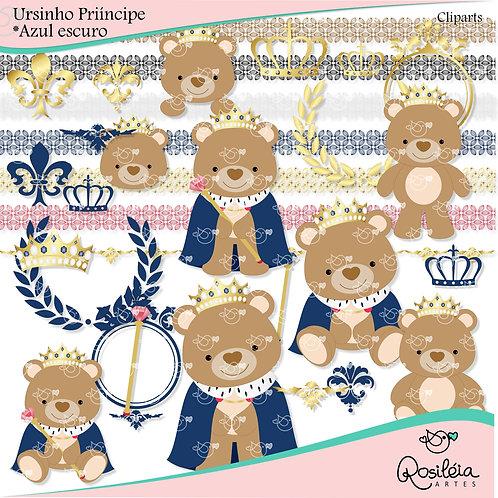 Cliparts Ursinho príncipe_Azul Marinho