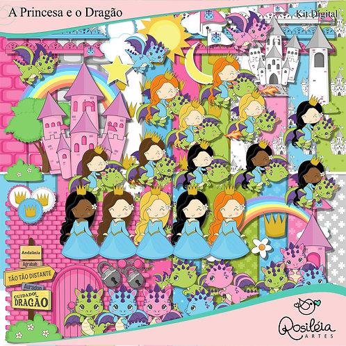 Kit Digital A Princesa e o Dragão