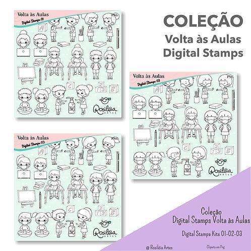 Coleção Digital Stamps Volta às Aulas