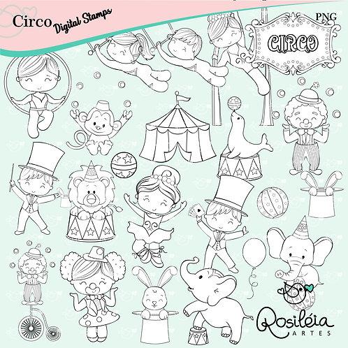 Digital Stamp Circo