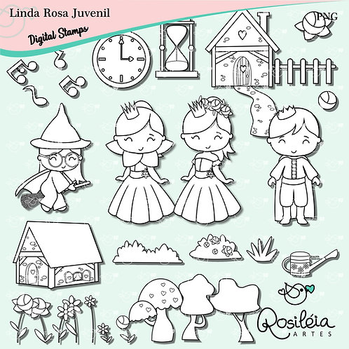 Digital Stamp Linda Rosa Juvenil
