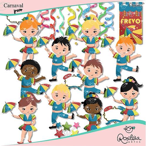 Kit de Cliparts Carnaval_Frevo