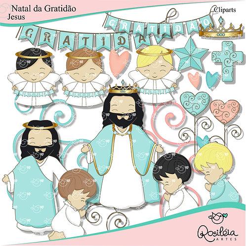 Cliparts Natal da Gratidão Jesus