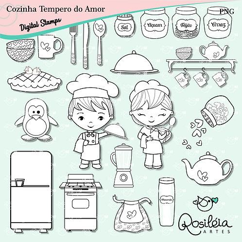 Digital Stamp Cozinha Tempero do Amor