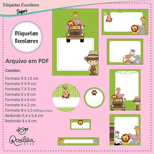 Etiquetas Escolares Safari - PDF