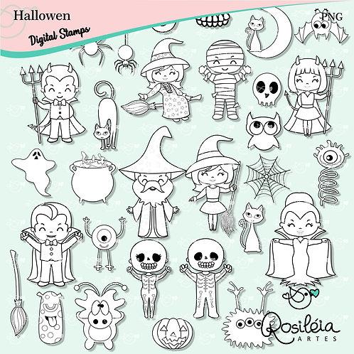 Digital Stamp Hallowen