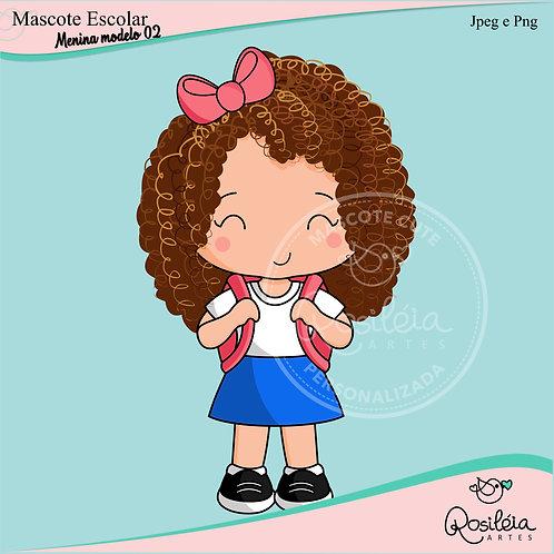 Mascote Escolar Menina Modelo 02
