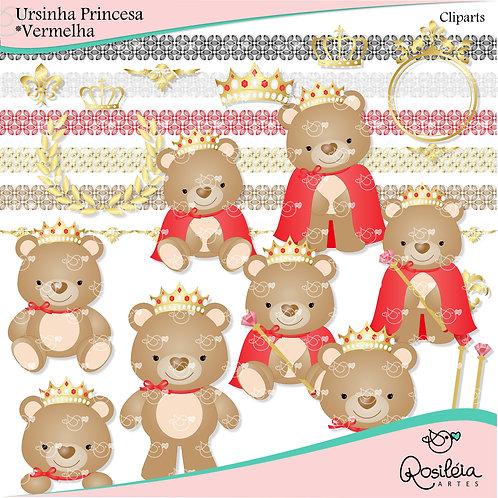 Cliparts Ursinha Princesa_Vermelha
