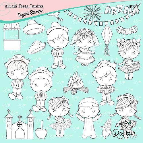 Digital Stamp Arraiá Festa Junina