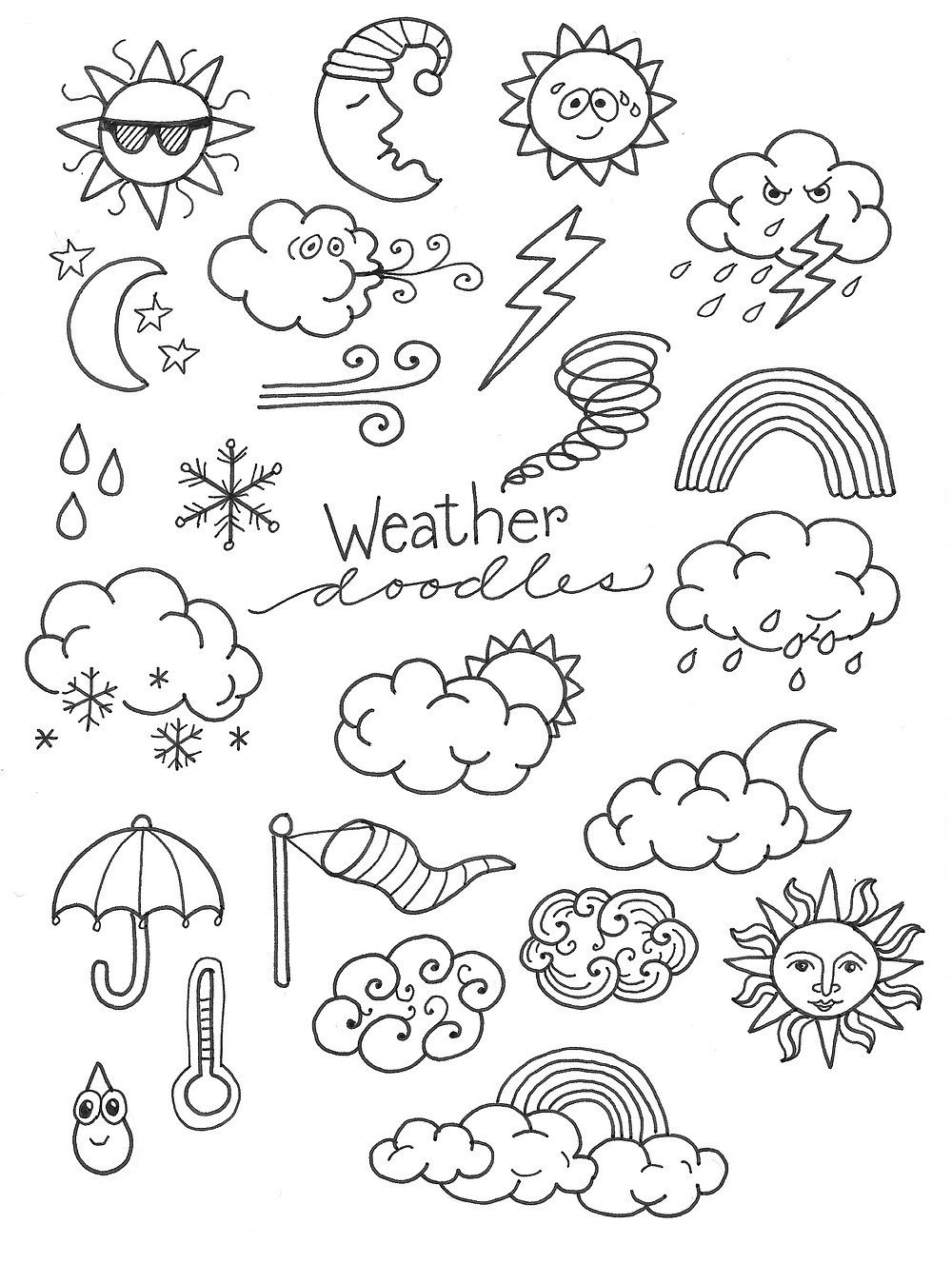 @mariebcreates #coloring #doodle black and white doodles to practice coloring